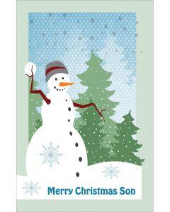 Merry Christmas Snowman to Son
