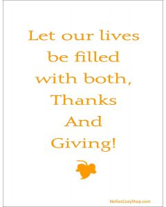 Let Our Lives be Filled Printable