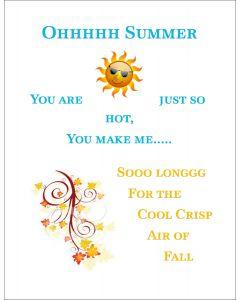 Ohhhhh Summer Printable Portrait