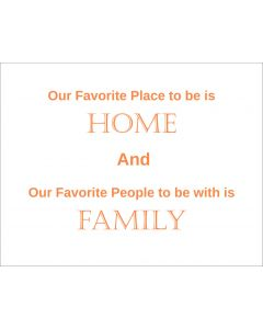 Our Favorite Place to be Orange