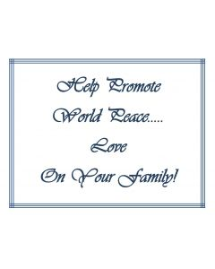 Promote World Peace Printable