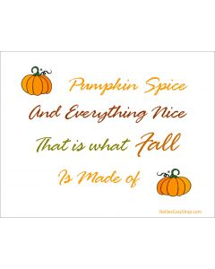 Pumpkin Spice Printable