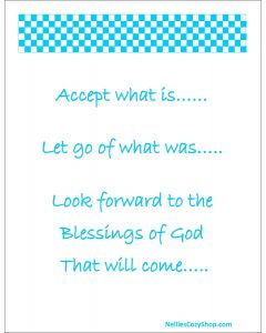 Accept what is printable Sky Blue