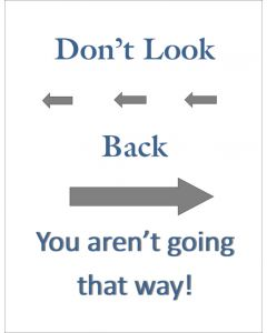 Don't Look Back Navyblue Printable