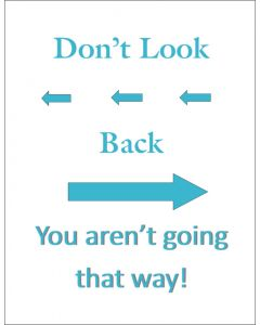 Don't Look Back Printable Robinseggblue