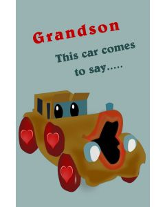Valentine Car for Grandson