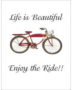 Life is Beautiful Bike Printable