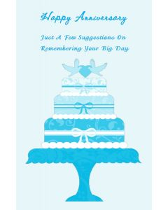 Happy Anniversary Wedding Cake