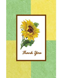 Oversize Notecard Sunflower Thank You