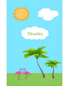 Oversized Notecard - Thanks, Flamingos