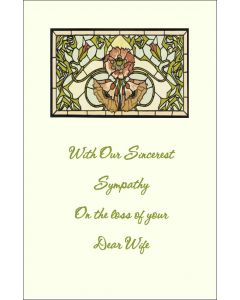 Sympathy Card for Loss of Wife