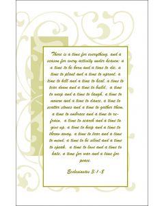 Sympathy Card, Ecclesiastes