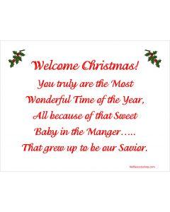Welcome Christmas Printable
